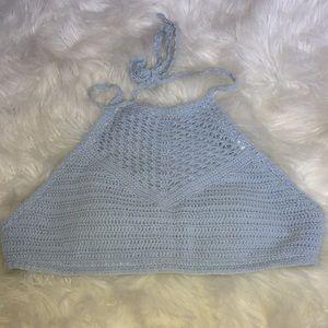 Pacsun blue bikini top